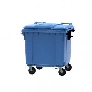 CONTAINER gunoi 1100 Litri  cu capac  plat - Albastru