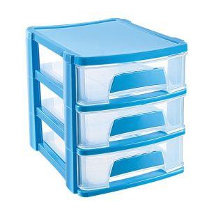 Cutie organizator cu 3 sertare 21,5x16,5x18,5 cm   ASR 2067