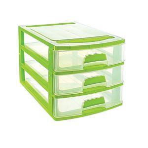 Cutie organizator cu 3 sertare 35,7x25,4x22,6 cm   ASR 2004