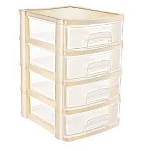 Cutie organizator cu 4 sertare 17,5x14,4x22 cm  ASR 5024