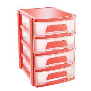 Cutie organizator cu 4 sertare 21,5x16,5x24 cm  ASR 2070