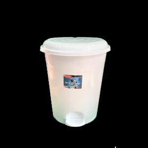 Cos gunoi cu pedala pentru institutii medicale -UP 127- Planet Lux Nr.4-Alb