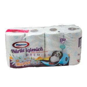 Hartie igienica parfumata 3 straturi Musetel 8/set MIS