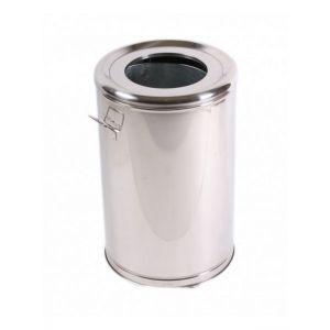 Cos gunoi inox cu roti 65 L 38747