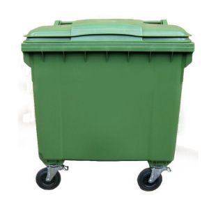 CONTAINER gunoi 1100 Litri  cu capac  plat  Verde