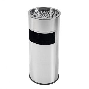 Cos gunoi cu scrumiera inox pentru exterior diam25 cm h60,5 cm - Z1-101-27