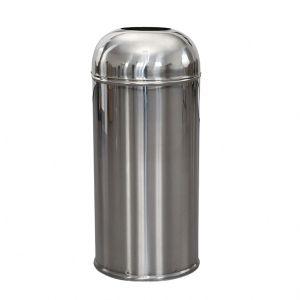 Cos gunoi inox capac deschis pentru exterior Ø 31 cm x h 68 cm - XG-224