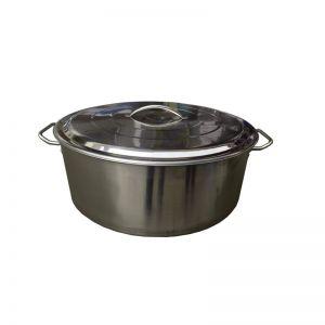 Cratita inox cu capac 33 litri