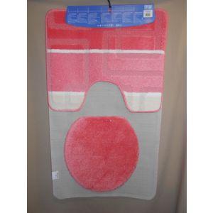Set covor de baie roz 60 cm x 100 cm