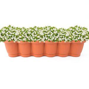 Jardiniera din plastic 65 cm Bella nr. 6