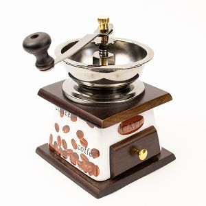 Rasnita manuala cafea si piper Big - lemn si ceramica