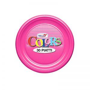 Set farfurii din plastic colorate, 30 buc/set
