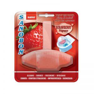 Odorizant toaleta Sanobon cu aroma de capsuni
