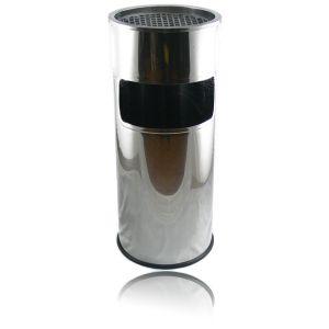 Scrumiera exterior inox 38772 cu diamentrul de 25 cm