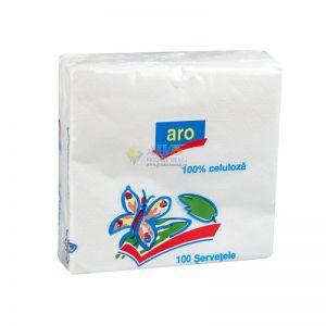 Servetele albe ARO 100 BUC/set 33x33 cm