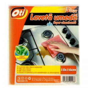 Lavete umede OTI 3 buc/set 18x16 cm