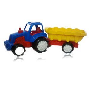 Tractor de jucarie super cu remorca