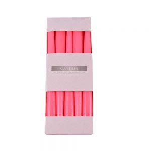 Lumanari conice roz 25 cm, 10 buc/ set