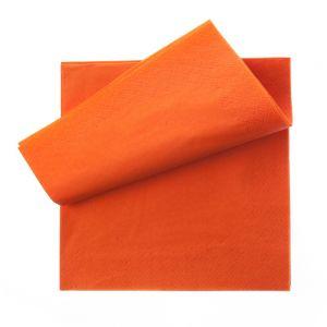 Servetel 33x33 cm portocaliu 2 straturi, 250 buc./pachet OTI