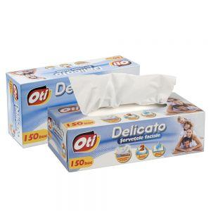 Servetele faciale DELICATO 2 straturi, 150 buc/cutie